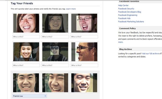 תיוג אוטומטי פייסבוק