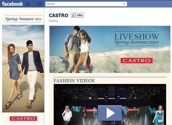 דף פייסבוק של קסטרו