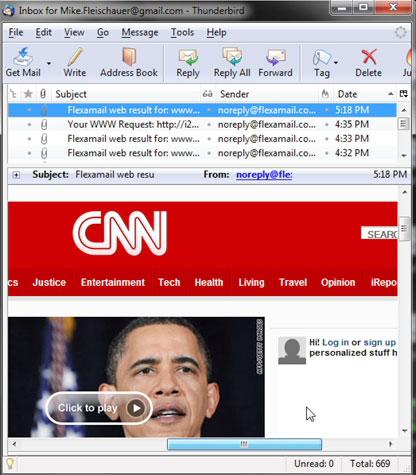 flexmail screenshot