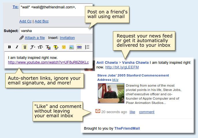 thefriendmail screenshot