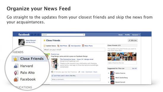 רשימות חברים בפייסבוק