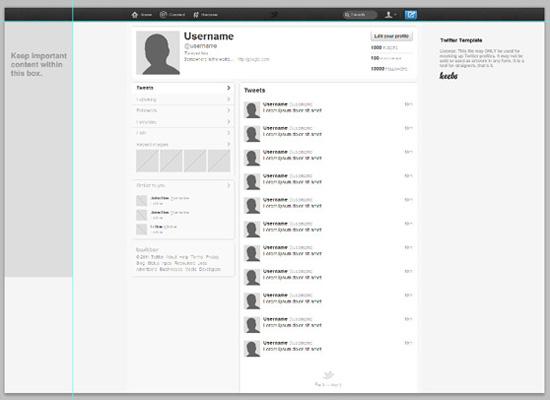 תבנית עיצוב לפרופיל טוויטר